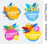 set of summer sale and discount ... | Shutterstock .eps vector #1423774631