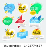 set of colorful badges with did ... | Shutterstock .eps vector #1423774637