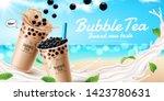 Bubble Milk Tea Ads With...