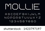 trendy font. minimalistic style ... | Shutterstock .eps vector #1423797197