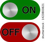 flat icon on and off. toggle... | Shutterstock .eps vector #1423803821
