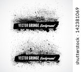 grunge banner backgrounds in... | Shutterstock .eps vector #142381069