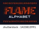 flame alphabet font. flame...   Shutterstock .eps vector #1423813991