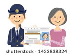 it is an illustration in which... | Shutterstock .eps vector #1423838324