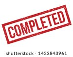 completed rubber stamp. red... | Shutterstock .eps vector #1423843961