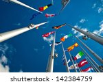 flags of the member states of... | Shutterstock . vector #142384759