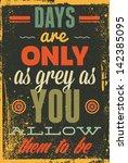 vintage typography vector... | Shutterstock .eps vector #142385095