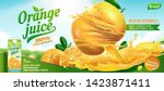 refreshing orange juice ads... | Shutterstock .eps vector #1423871411