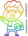 rainbow gradient line drawing... | Shutterstock .eps vector #1423883357