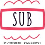subscribe button background... | Shutterstock .eps vector #1423885997