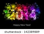 vector happy new year   2014... | Shutterstock .eps vector #142389889