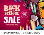 back to school sale banner... | Shutterstock .eps vector #1423904597