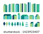 vector set of illustration in... | Shutterstock .eps vector #1423923407