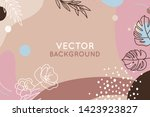 vector set of abstract creative ... | Shutterstock .eps vector #1423923827