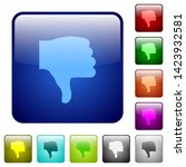thumbs down icons in rounded... | Shutterstock .eps vector #1423932581