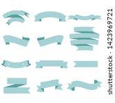 blue ribbon set inisolated... | Shutterstock .eps vector #1423969721