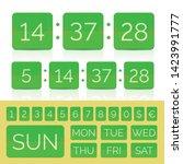 green flat calendar with week... | Shutterstock .eps vector #1423991777