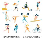 professional sport activities... | Shutterstock .eps vector #1424009057
