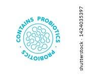 contains probiotics vector icon ...   Shutterstock .eps vector #1424035397