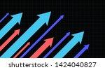 stock market arrows going up.... | Shutterstock .eps vector #1424040827