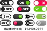 set of on off icon. switch... | Shutterstock .eps vector #1424060894