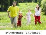 image of joyful family running... | Shutterstock . vector #14240698