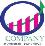 blue  green business or... | Shutterstock .eps vector #1424075927