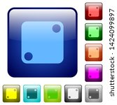 domino two icons in rounded... | Shutterstock .eps vector #1424099897