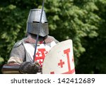Knight With Sword And Shield...