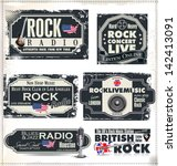 rock music banner set | Shutterstock .eps vector #142413091
