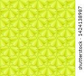 background with yellow flowers  ... | Shutterstock .eps vector #1424138987