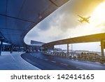 the scene of airport building... | Shutterstock . vector #142414165