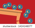 concept of the international... | Shutterstock .eps vector #1424148377