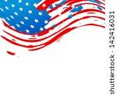 creative american flag design... | Shutterstock .eps vector #142416031