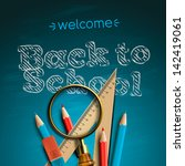 welcome back to school  vector... | Shutterstock .eps vector #142419061