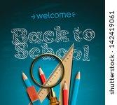 welcome back to school  vector... | Shutterstock .eps vector #142419061