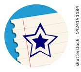 rating star free hand icon on a ...