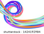 wavy liquid colorful background ...   Shutterstock .eps vector #1424192984