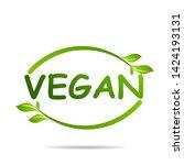 vegan product icon design...   Shutterstock .eps vector #1424193131