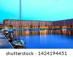 the royal albert dock is a... | Shutterstock . vector #1424194451