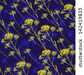 pattern of flowers Helichrysum
