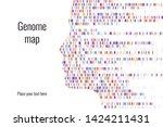 dna test infographic. vector... | Shutterstock .eps vector #1424211431