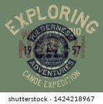 great lakes canoe trip... | Shutterstock .eps vector #1424218967