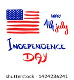 fourth of july banner. happy... | Shutterstock .eps vector #1424236241