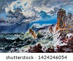 Ship Wreck In The Rocks In A...