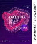 techno event. dynamic gradient... | Shutterstock .eps vector #1424253884