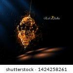 eid al adha greeting card ... | Shutterstock .eps vector #1424258261