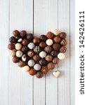 heart shape made with various... | Shutterstock . vector #142426111