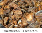 close up  many fried fish   for ... | Shutterstock . vector #142427671