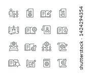 technical documentation related ... | Shutterstock .eps vector #1424294354